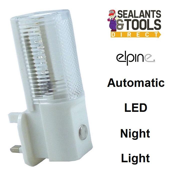 Elpine Electric Plug in Automatic LED Night Light Socket 31269c