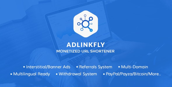 AdLinkFly v6.3.0 NULLED - монетизация коротких ссылок.
