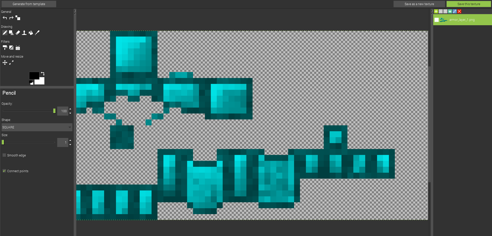 Editing the texture
