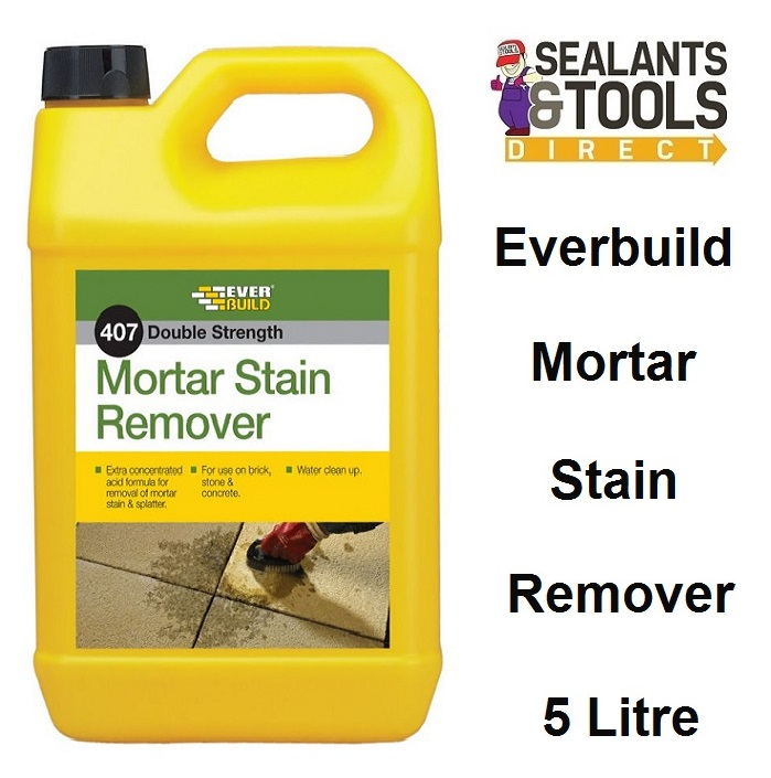 Everbuild 407 Mortar Cement Stain Remover 5 litre MORSTAIN5