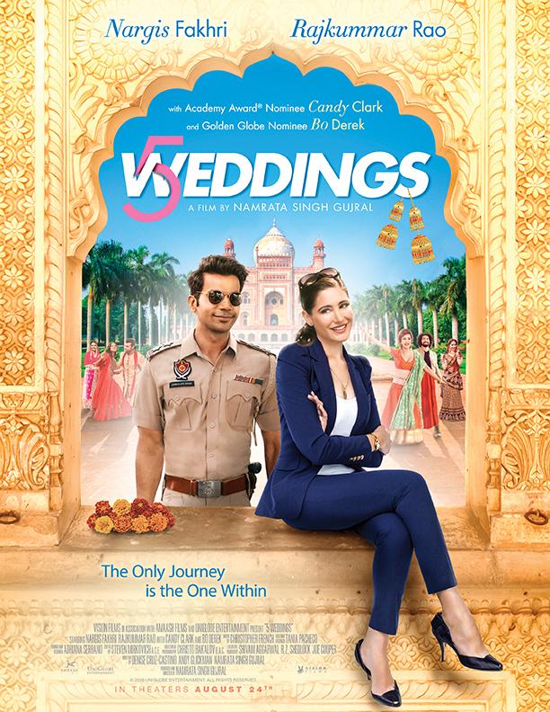 5 Weddings 2018 Hindi 720p HDRip ESubs 600MB | 300MB Download