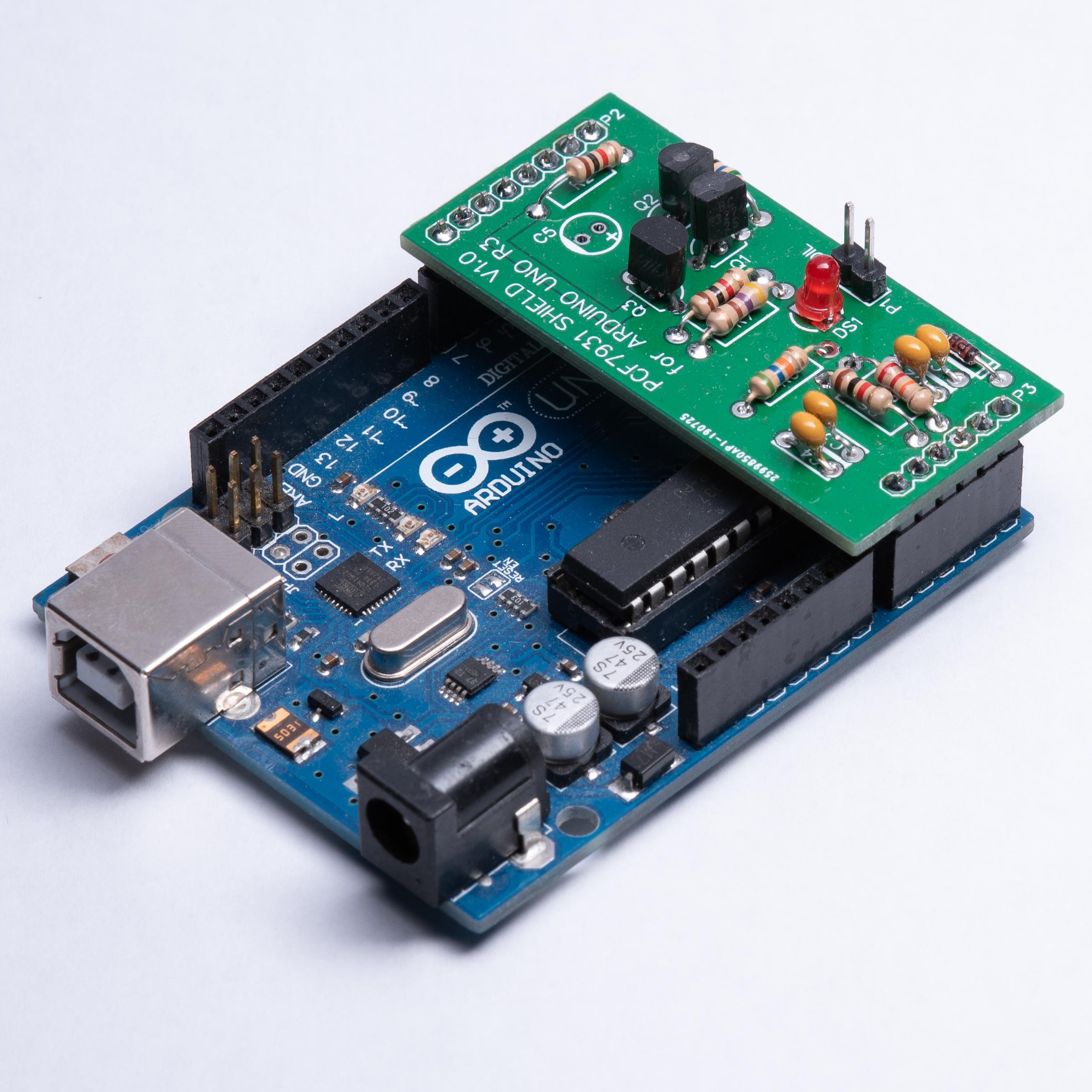 ARDUINO UNO R3 COMPATIBLE PCF7931 RFID TRANSPONDER PROGRAMMER SHIELD KIT