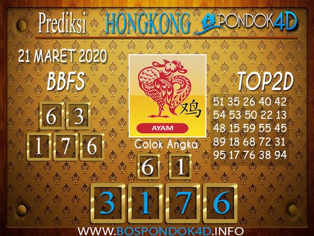 Prediksi Togel HONGKONG PONDOK4D 21 MARET 2020
