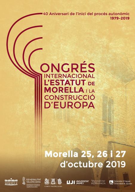 Congreso internacional del estatuto de Morella y la construcción de Europa