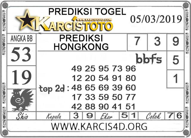 Prediksi Togel HONGKONG KARCISTOTO 05 MARET 2019
