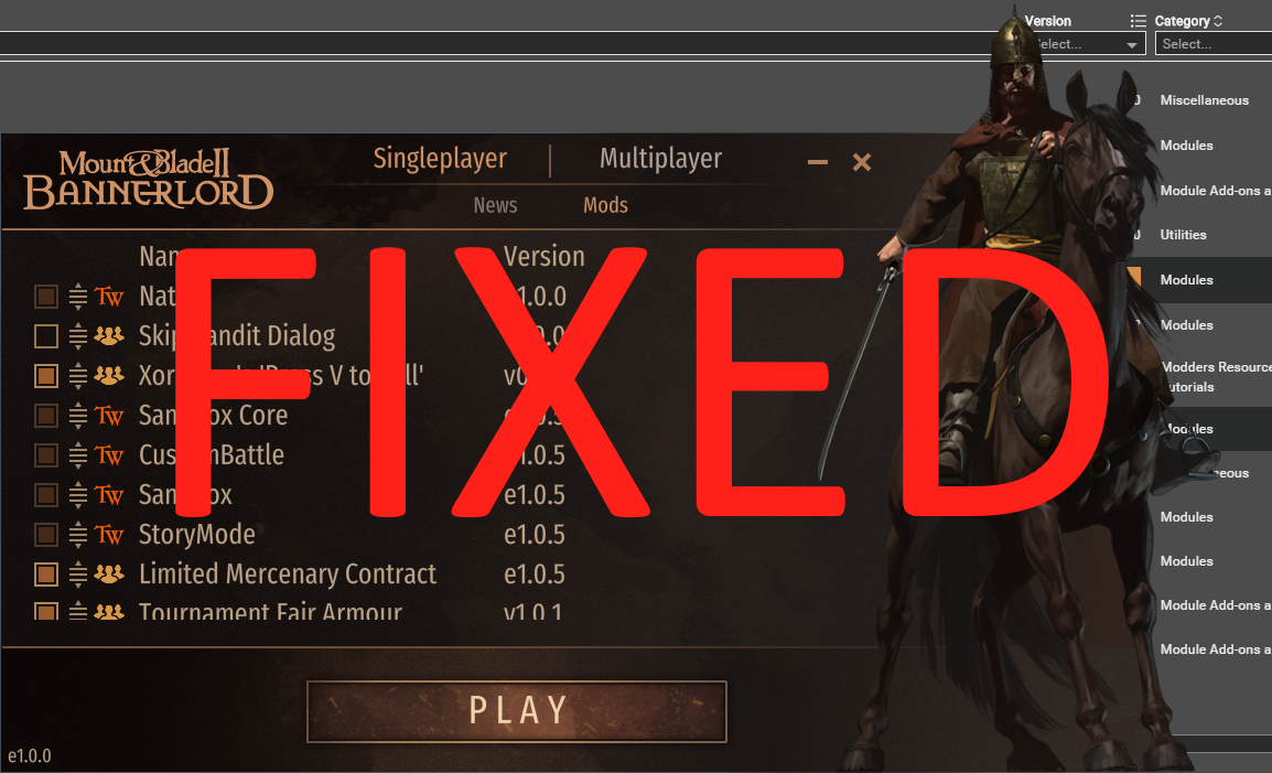 Fixed Launcher для MB II: Bannerlord