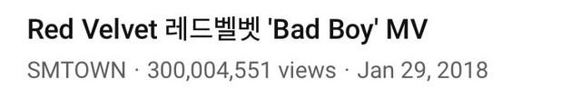 Red-Velvet-Bad-Boy-MV-Views