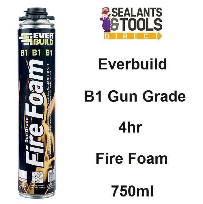 Everbuild B1 Gun Grade Expanding 4hr Fire Foam 750ml B1FIREGUN