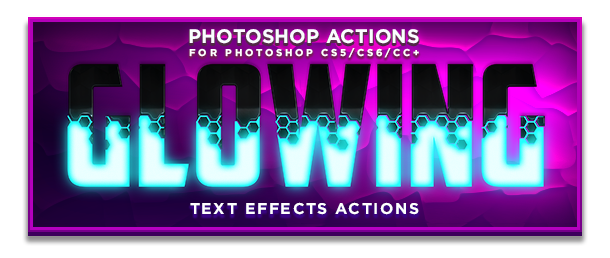Glowing Text Photoshop Actions