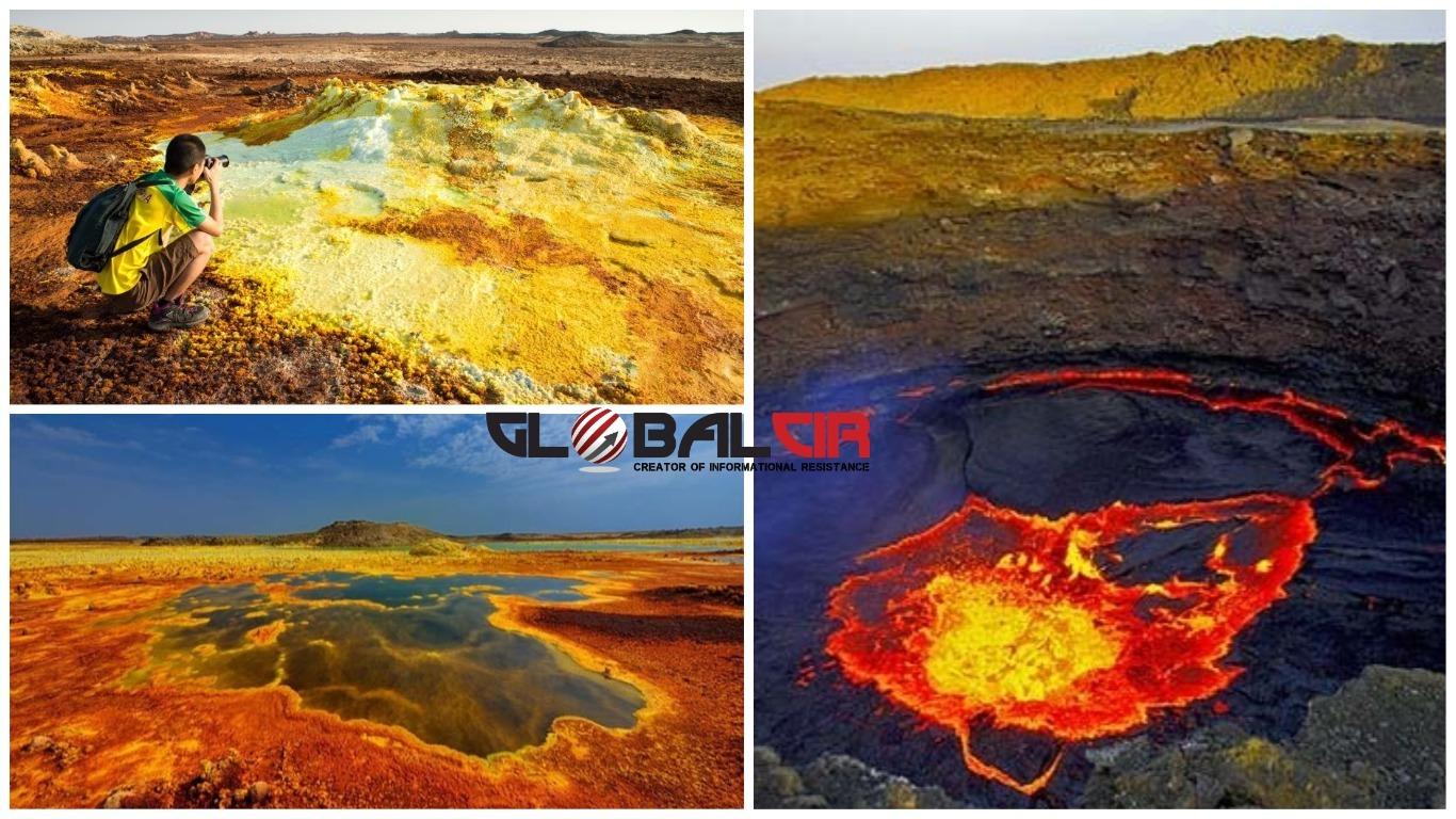 JEDNA OD NAJOKRUTNIJIH PUSTINJA NA ZEMLJI! U Danakilskoj pustinji možete vidjeti jedini vulkan ispod nivoa mora, slane ravnice, mineralne izvore, sumporne jame…