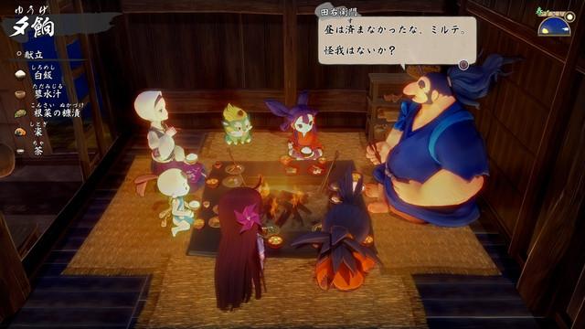 米就是力量!種稻就能變強的和風動作RPG登場! Nintendo Switch™/PlayStation4『天穗之咲稻姬』今日發售! 005-Dinner-00-Jp