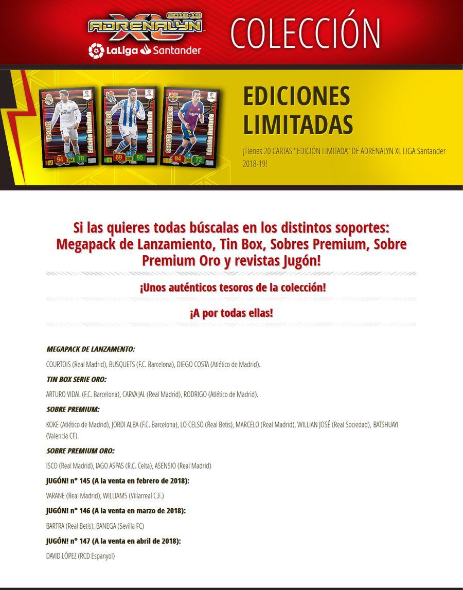 Ediciones Limitadas 19-EDICIONES-LIMITADAS-COLECCI-N-Adrenalyn-Liga