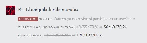 R.I.P resurreción de Aatrox