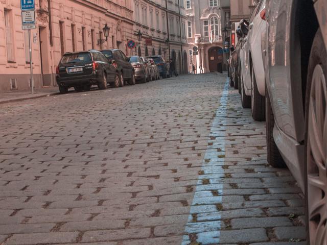 Modrá zóna placeného stání v Praze