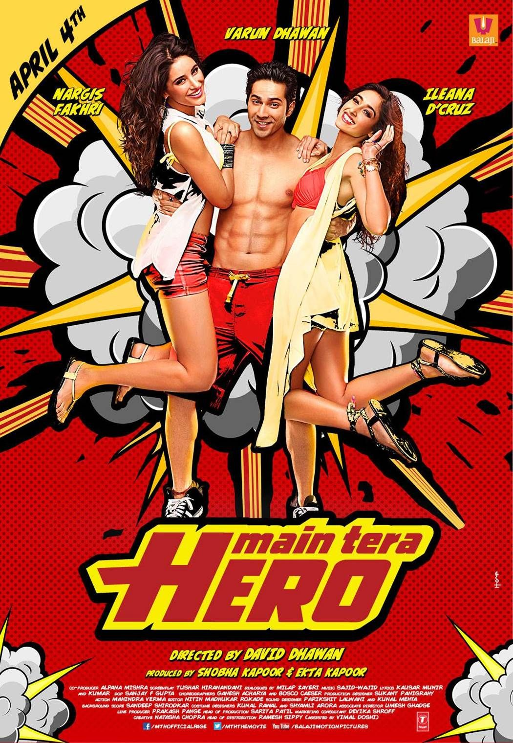 Main Tera Hero (2014) Hindi 480p WEB-DL x264 AAC 350MB ESub
