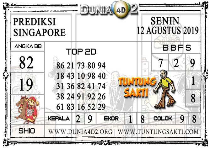 """Prediksi Togel """"SINGAPORE"""" DUNIA4D2 12 AGUSTUS 2019"""