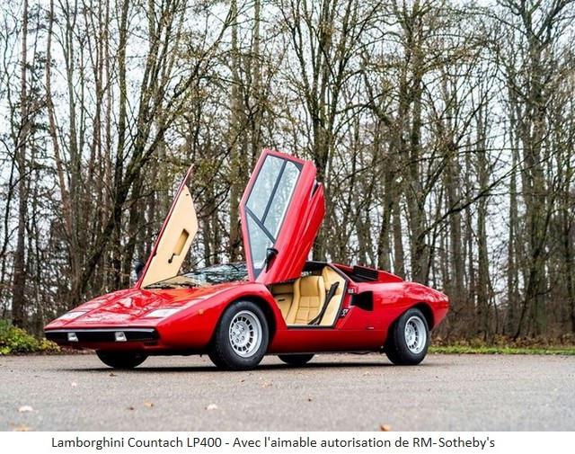 Lamborghini Miura SV et Countach LP 400 «Periscopio» atteignent des prix records à la vente RM Sotheby's Paris 579659-v2