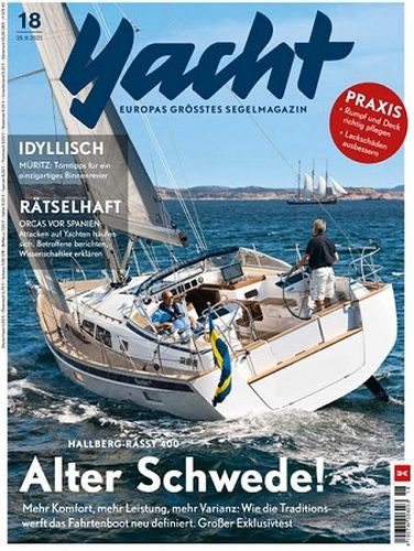 Cover: Yacht Das Segelmagazin No 18 vom 25  August 2021