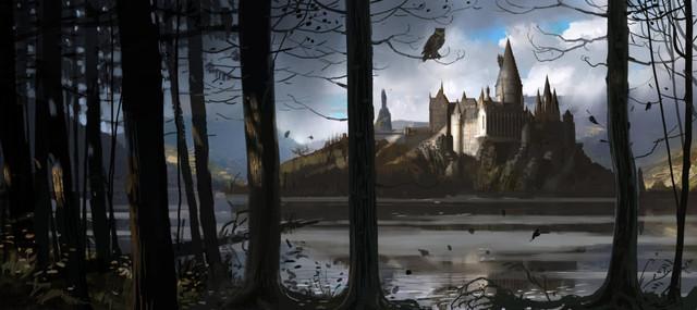 Hogwarts-Castle-WB-F4-Hogwarts-Through-The-Trees-Illust-100615-Land
