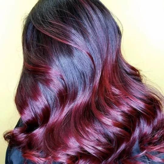 dark red -hair-color