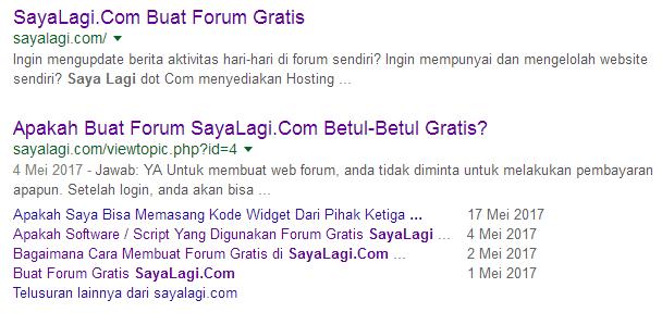 pencarian forum di search engine
