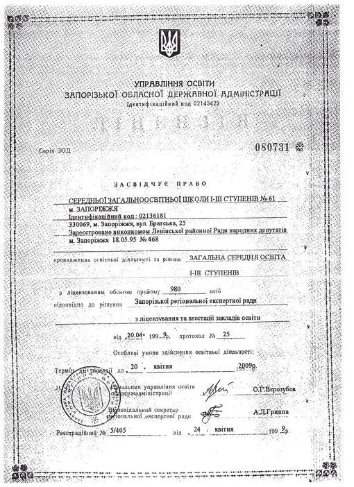 Документи на провадження освітньої діяльності Min