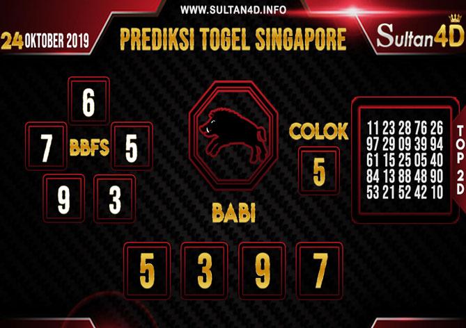 PREDIKSI TOGEL SINGAPORE SULTAN4D 24 OKTOBER 2019