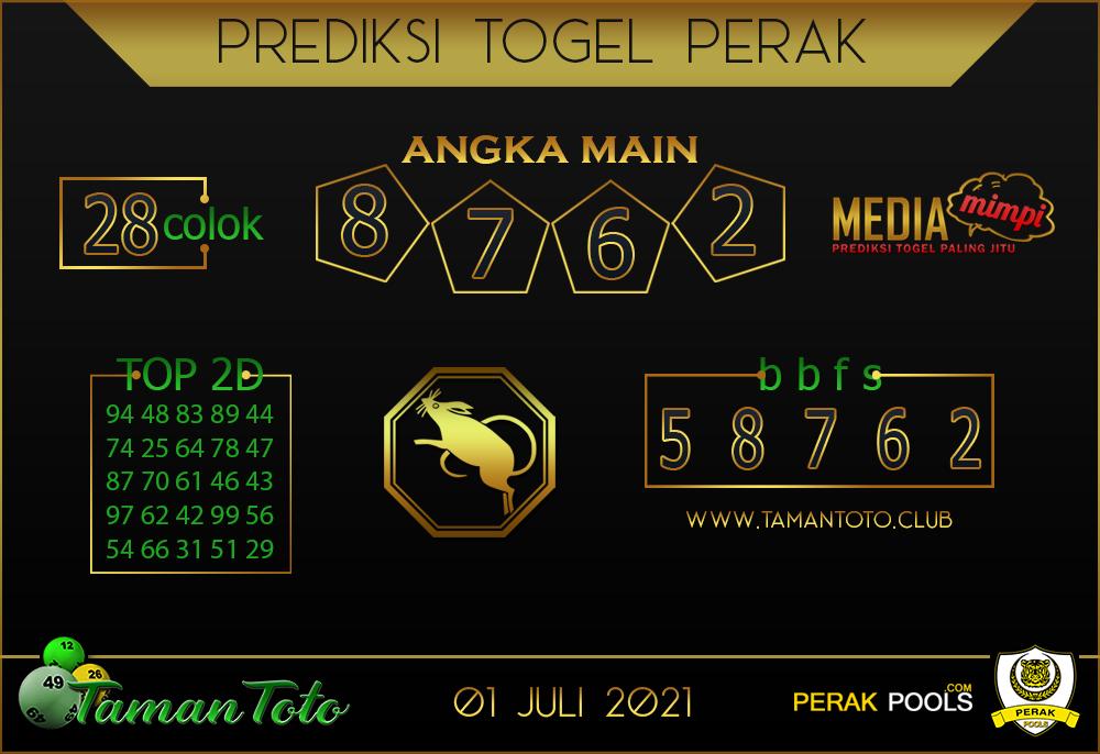 Prediksi Togel PERAK TAMAN 01 JULI 2021