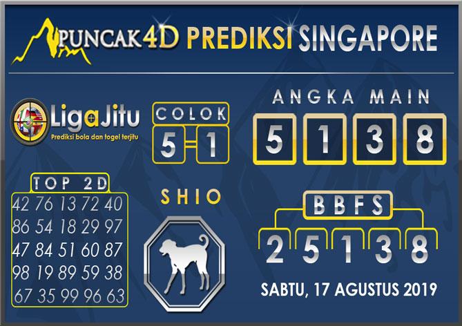 PREDIKSI TOGEL SINGAPORE PUNCAK4D 17 AGUSTUS 2019