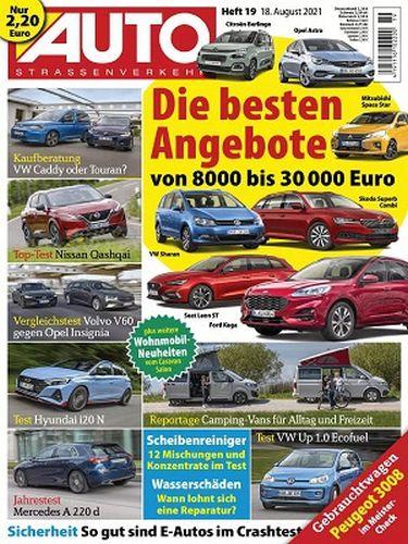 Cover: Auto Strassenverkehr Magazin No 19 vom 18  August 2021