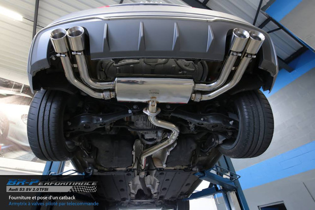 Audi S3 (8V) ARMYTRIX Decat/Cat-Back Valved-Exhaust - Review, Photos