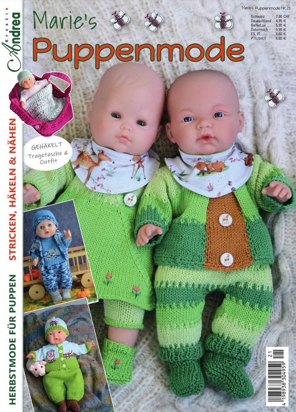 Журнал по вязанию для кукол «Marie's Puppenmode» №21 2020