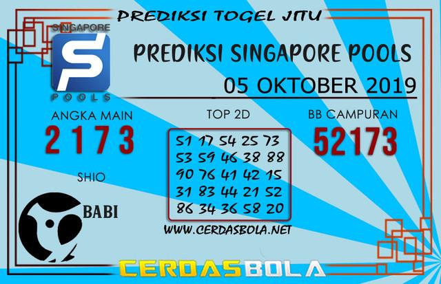 "Prediksi Togel ""SINGAPORE"" CERDASBOLA 05 OKTOBER 2019"
