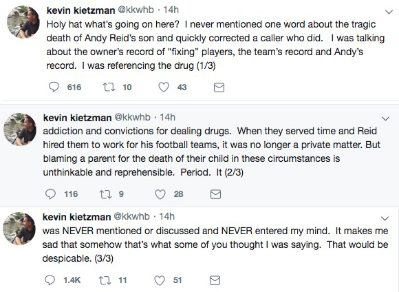 KC radio host suspended following comments about Andy Reid