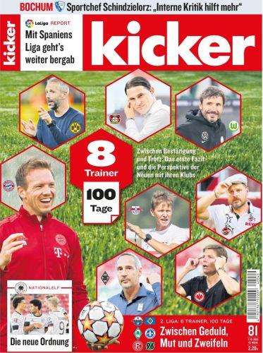 Cover: Kicker Sportmagazin No 81 vom 07 Oktober 2021