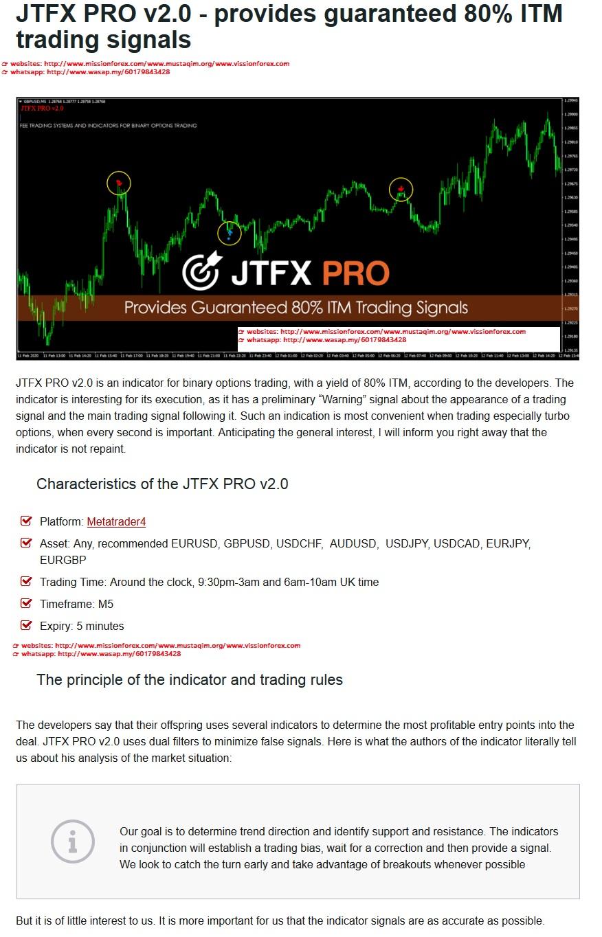 JTFX PRO v2.0 - provides guaranteed 80% ITM trading signals(SEE 1 MORE Unbelievable BONUS INSIDE!!)Forex AI Autotrader v4.0
