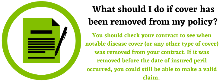 notable disease cover policy