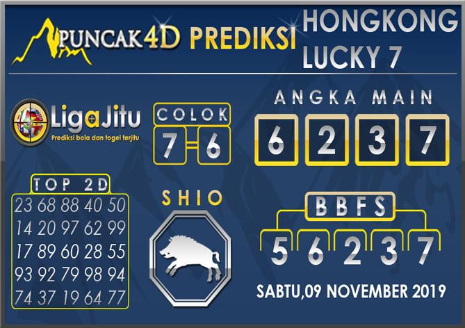 PREDIKSI TOGEL HONGKONG LUCKY7 PUNCAK4D 09 NOVEMBER 2019