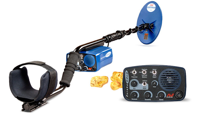 Metal detector for finding gold