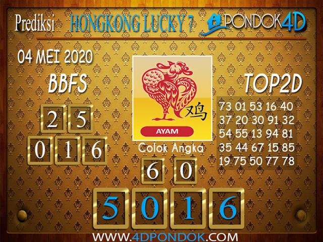Prediksi Togel HONGKONG LUCKY 7 PONDOK4D 04 MEI 2020