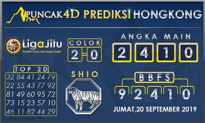 PREDIKSI TOGEL HONGKONG PUNCAK4D 20 SEPTEMBER 2019
