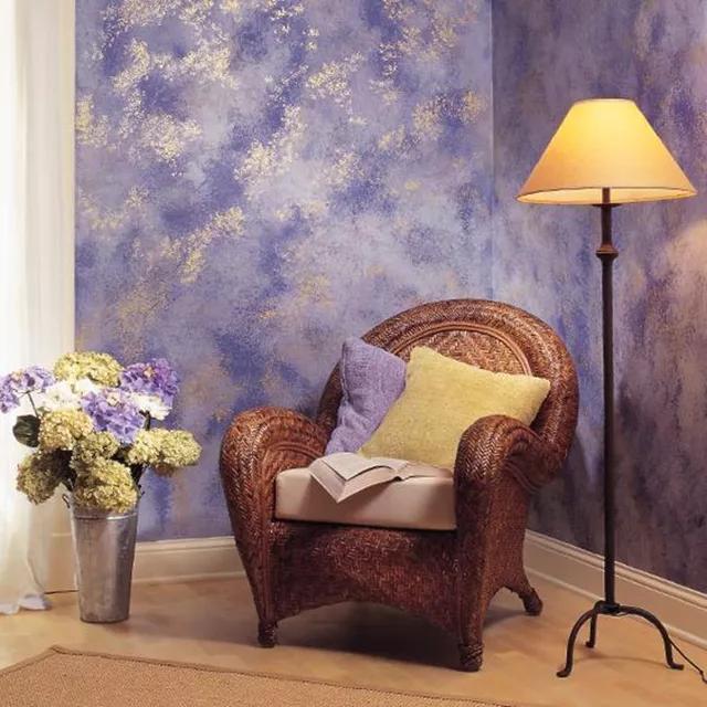 окраска стен дизайн с помощью губки