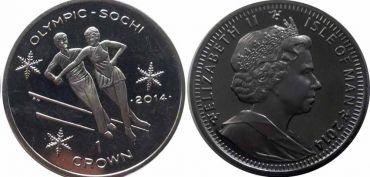 Монета Острова Мэн. Фигурное катание. Олимпийские игры