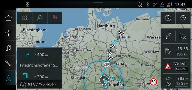 Assistant intelligent pour la conduite électrique: le calculateur d' itinéraire Audi e-tron A207381-medium