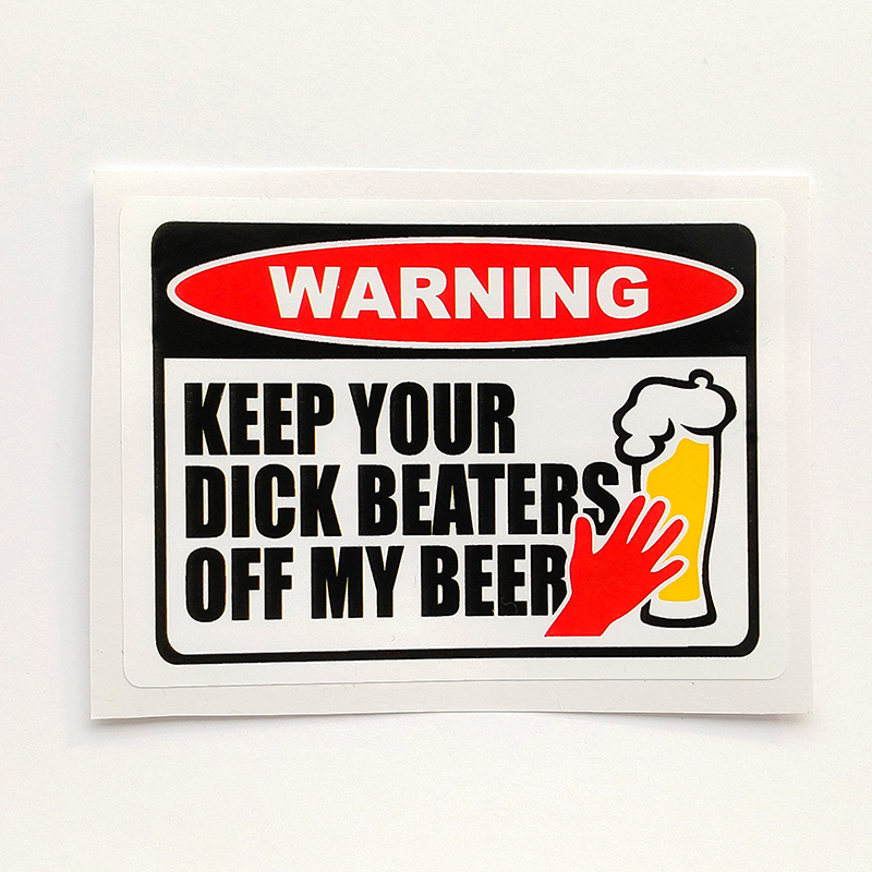 Funny Beer Fridge Sticker Vinyl Decal No Food Contaminants Fun Joke Pint Glass