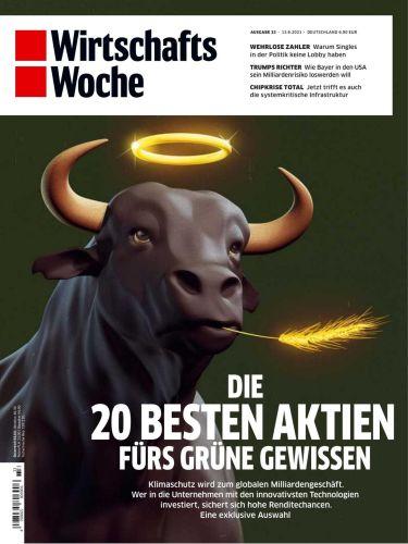 Cover: Wirtschaftswoche Magazin No 33 vom 13  August 2021