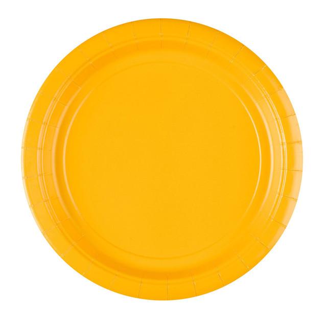 თეფში ყვითელი ქაღალდის 8ც