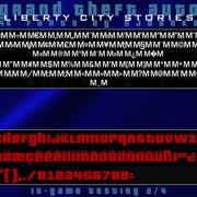 GTA LIBERTY CITY STORIES PSP 4K FONTS BY DJDARKO TESTING 2