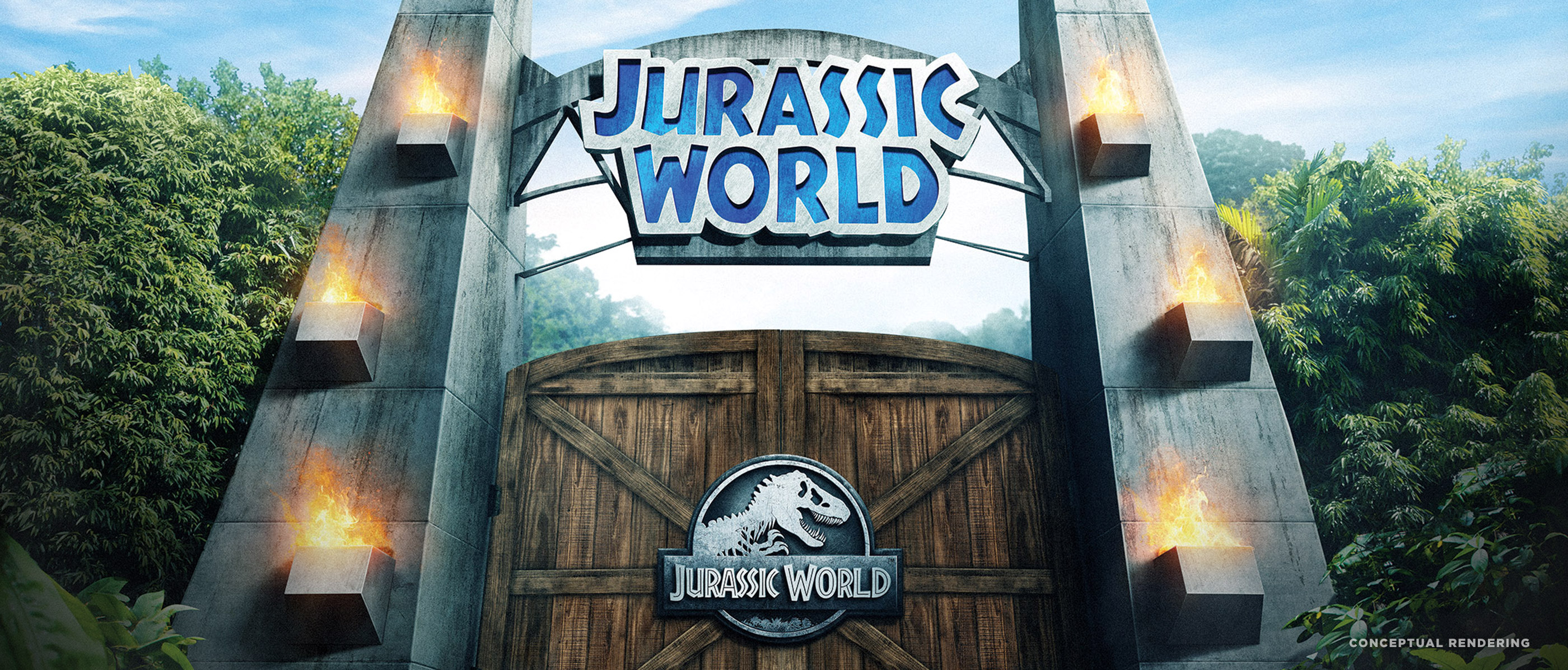 Jurassic Park World at Universal Studios Hollywood