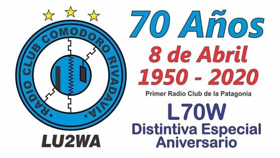 """2020 12 10 lu2wa qsl distintiva especial - Certificado """"Despidiendo el 2020"""" y QSL Señal Distintiva Aniversario"""